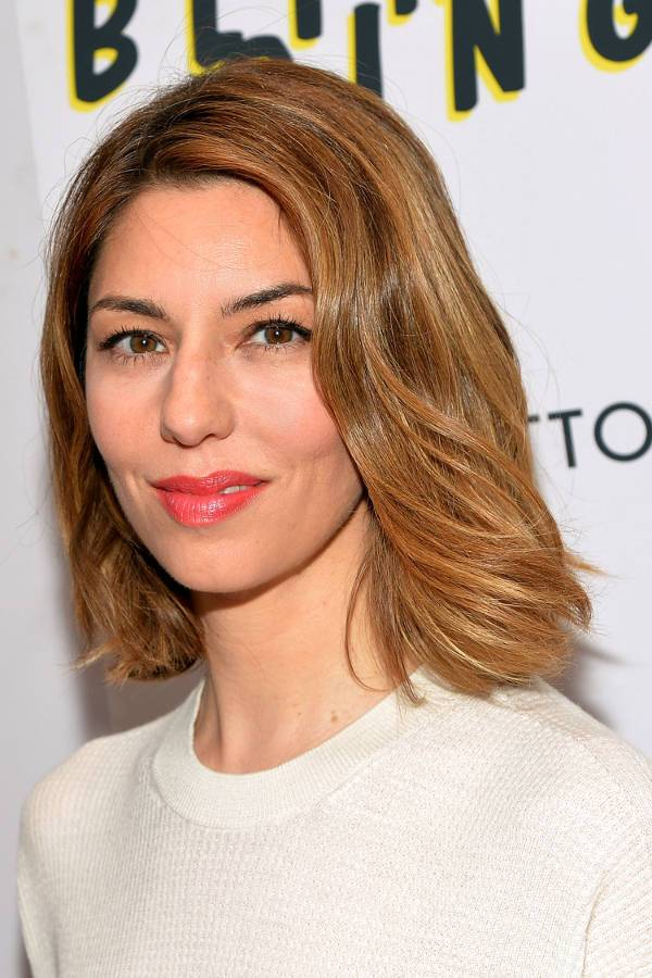 sofia coppola wavy bob haircut