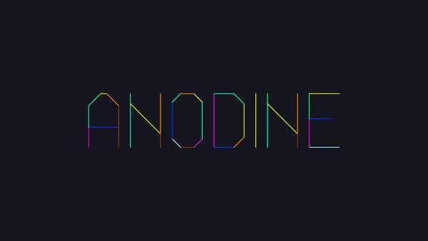 anodine animated typeface