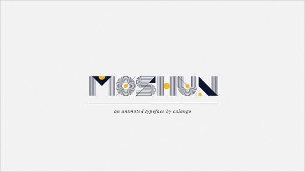 moshun animated typeface