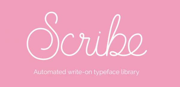 scribe animated typeface