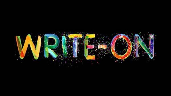 write on animated typeface