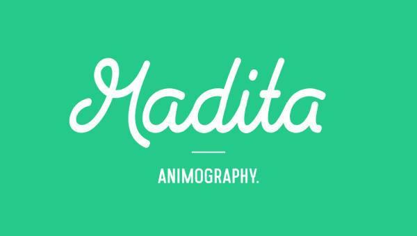 madita animated typeface