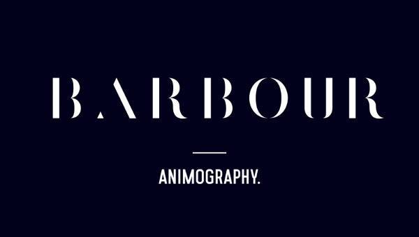 barbour animated typeface
