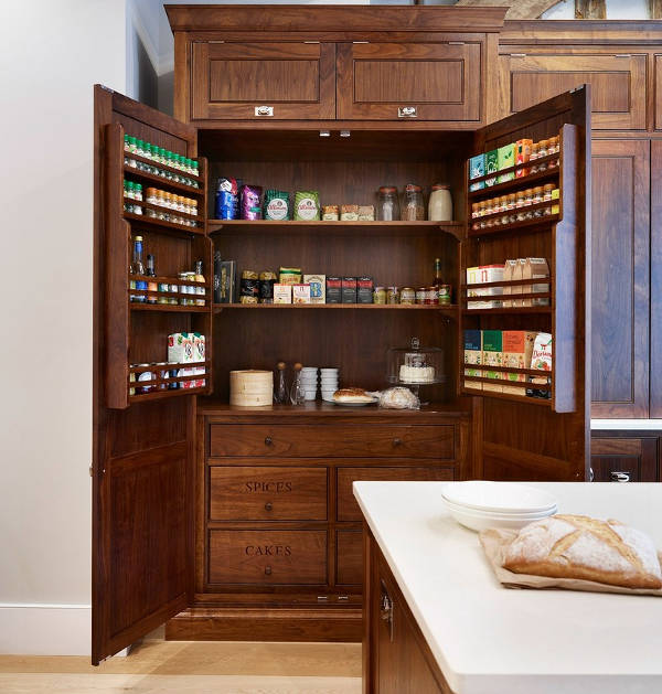 antique wood pantry cabinets