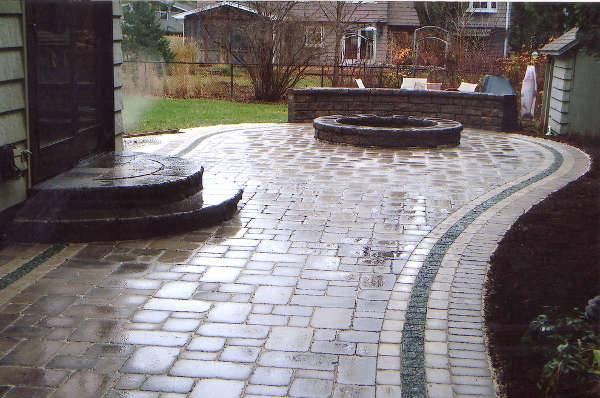 backyard brick patio design