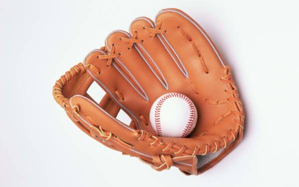 Baseball with Glove Background