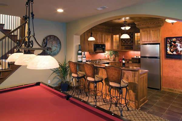 basement kitchen bar idea