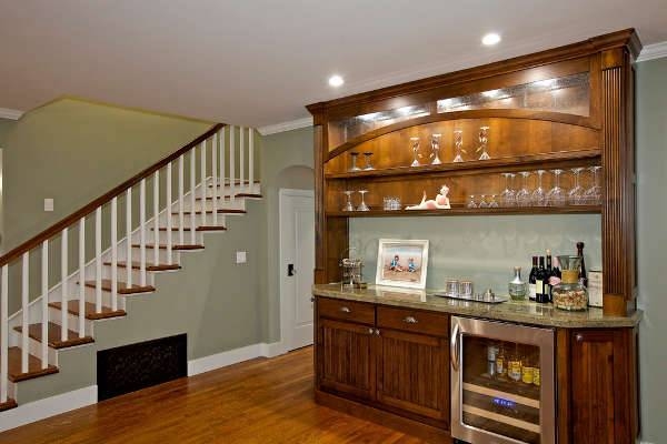 basement wall bar design