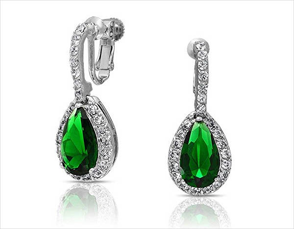 beautiful emerald clip on earrings1