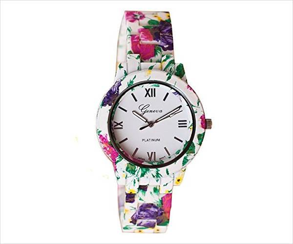 beautiful floral watch design for women