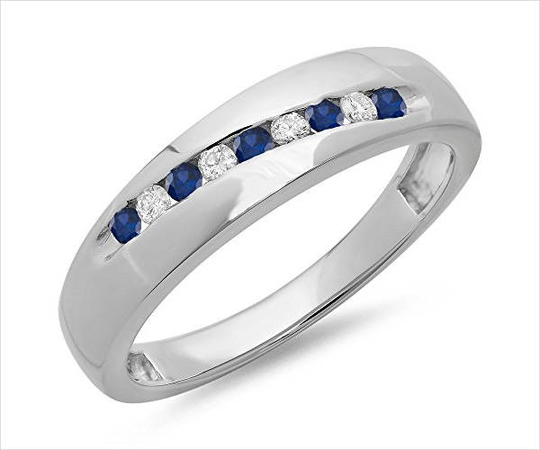 beautiful sapphire wedding ring for men