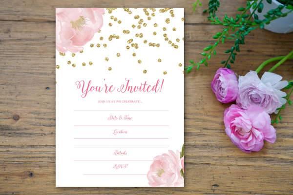 Blank Formal Invitation Design
