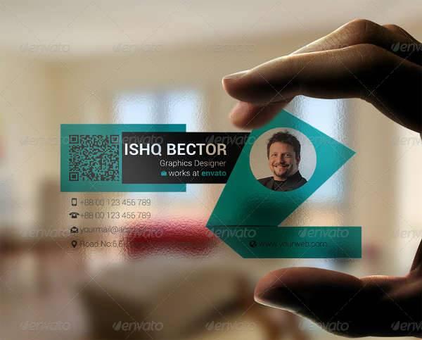 Blue Transparent Business Card