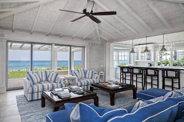Blue and White Striped Beach Chairs