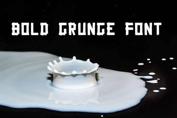 bold grunge font