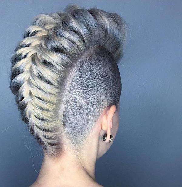 braided mohawk design