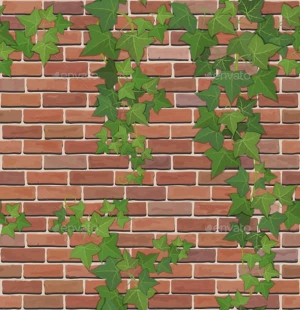 Brick and Ivy Texture