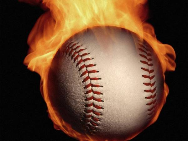 Burning Baseball Background
