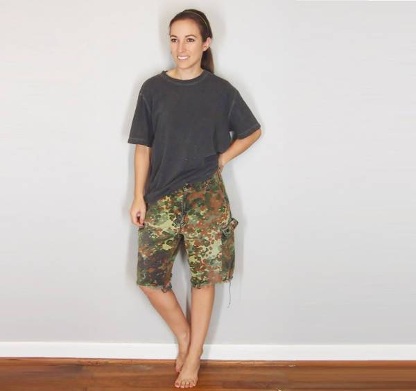 Camo Cargo Short for Women