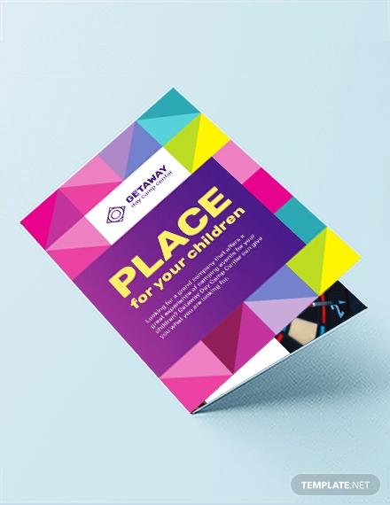 camp bi fold brochure template