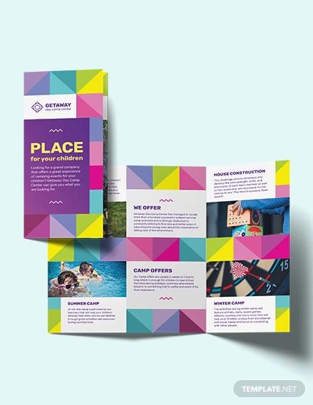 camp tri fold brochure template