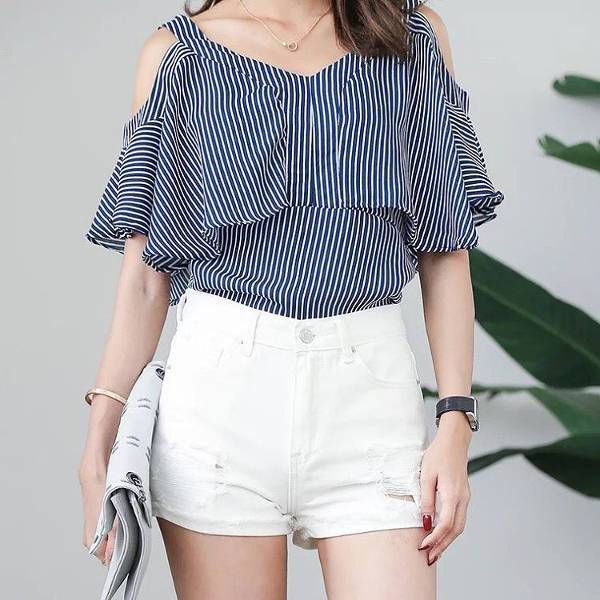 Casual White Short for Women