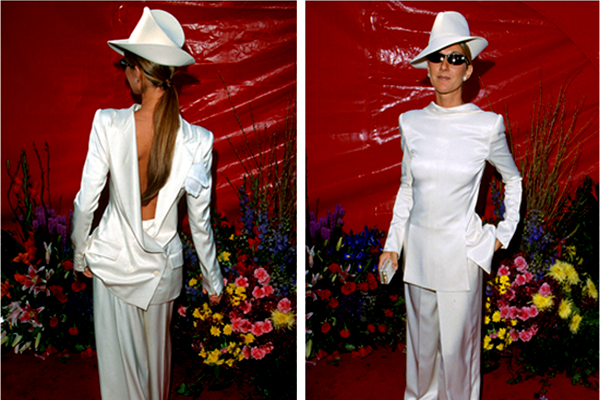 celine dion in john galliano 1999