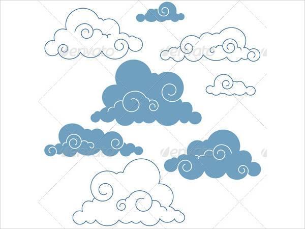 chinese style seamless cloud pattern