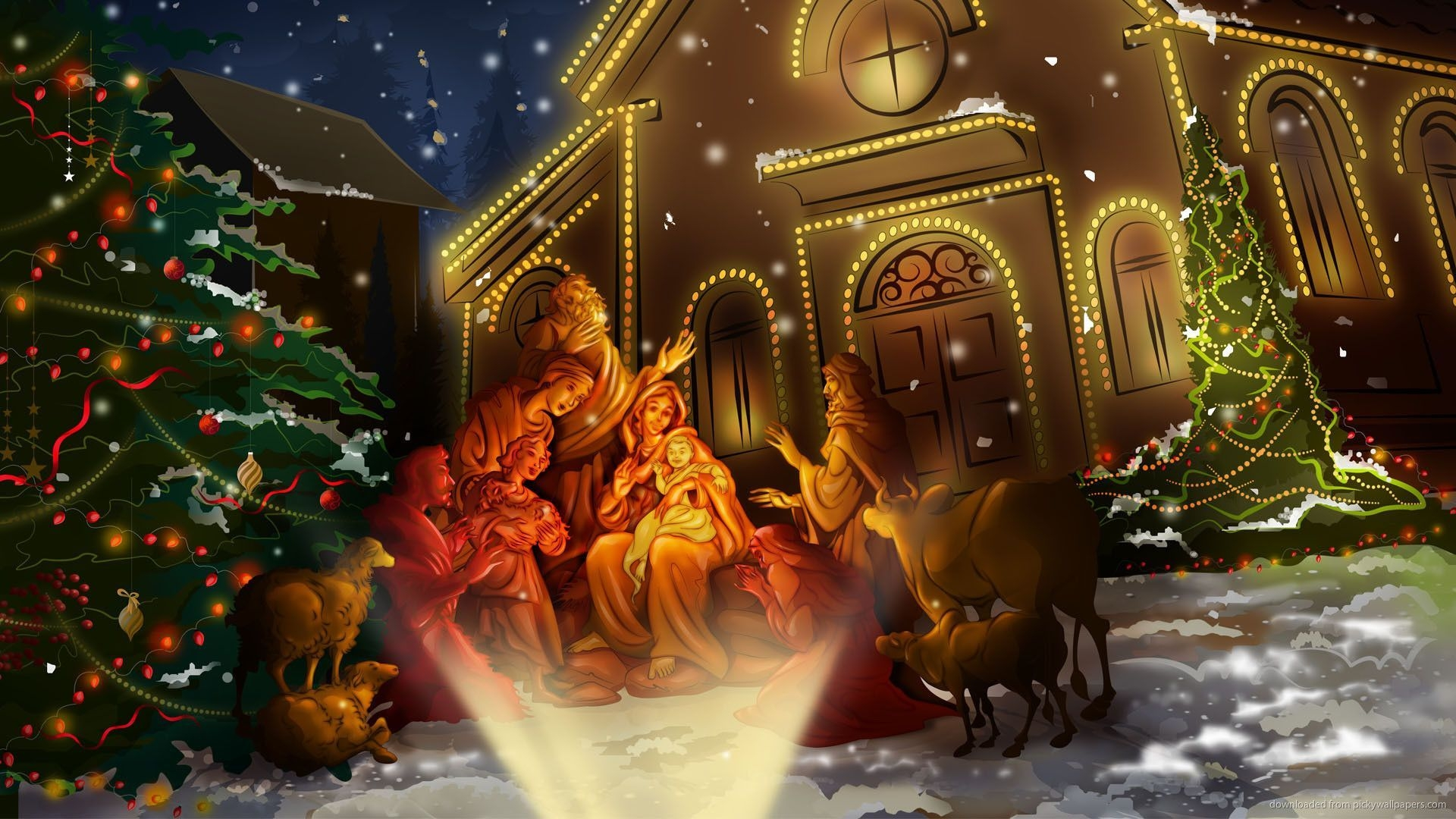 christmas scene wallpaper download hq