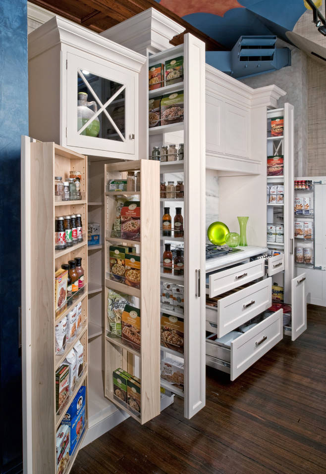 classic white pantry cabinets