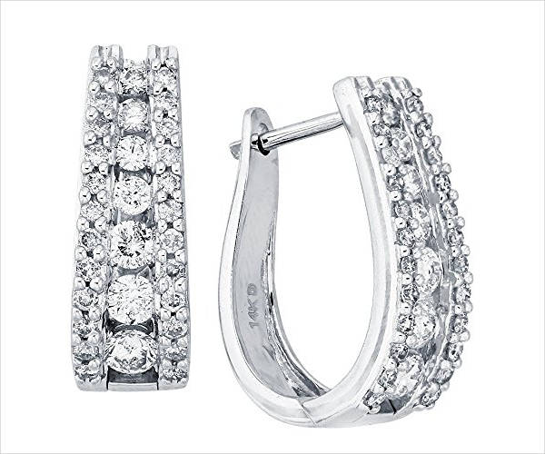 clip on diamond hoop earrings