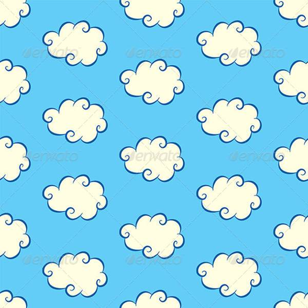 cloud pattern with sky background