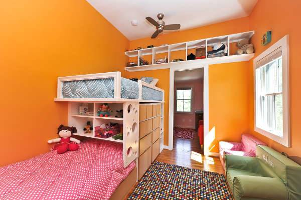 colorful double kids bedroom furniture