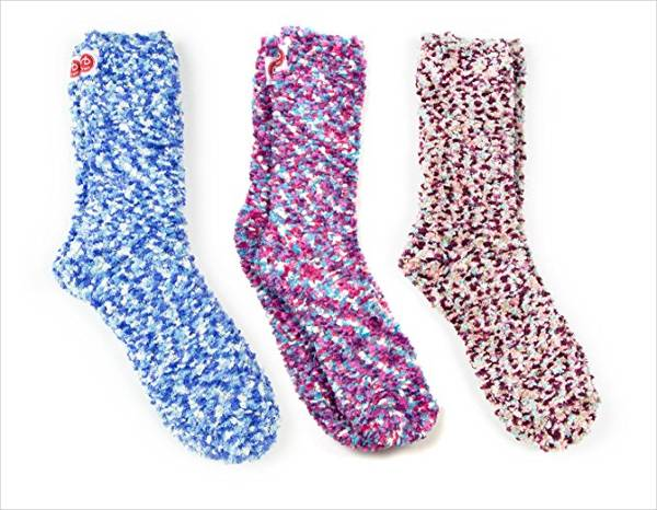 Colorful Fuzzy Socks for Women