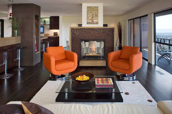 Colorful Swivel Chairs for Living Room