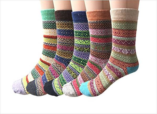 Colorful Wool Socks for Women