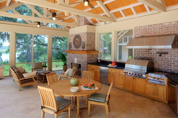 compo traditional outdoor kitchen