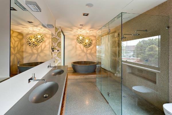 concrete bathroom sink countertop