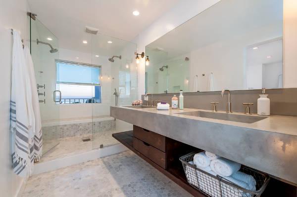 concrete bathroom vanity countertop