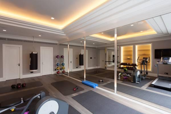 contemporary gym floor mirror design