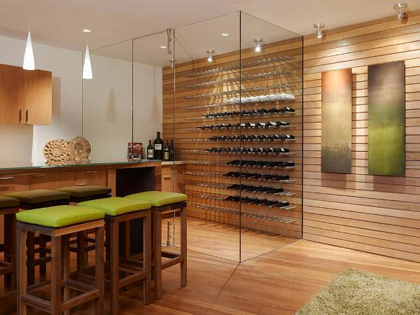 Contemporary Modern Wine Cellar Idea