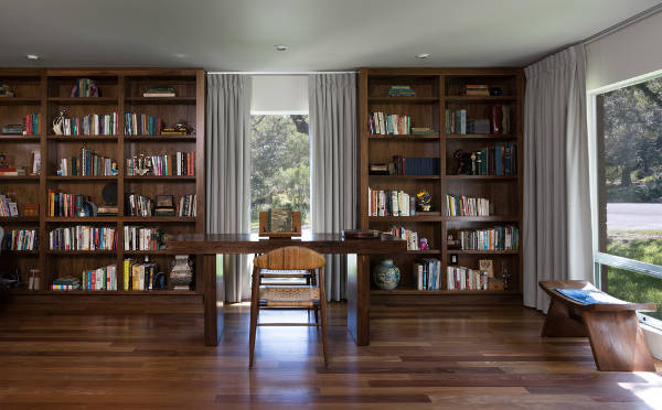 contemporary open bookcase design