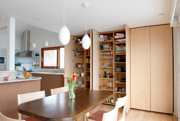 contemporary wood pantry cabinets