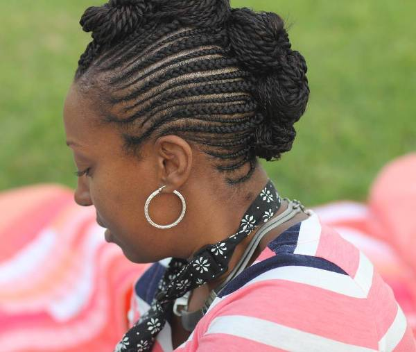 cornrow mohawk hairstyle design
