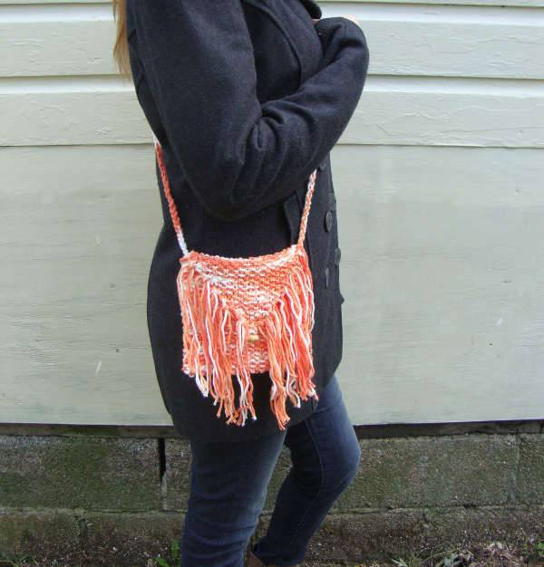 Cotton Fringe Cross Body Handbag