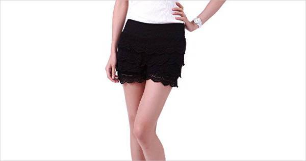 Crochet Lace Short for Women