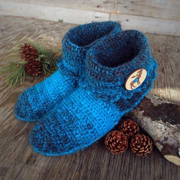 Crochet Slipper Socks for Women