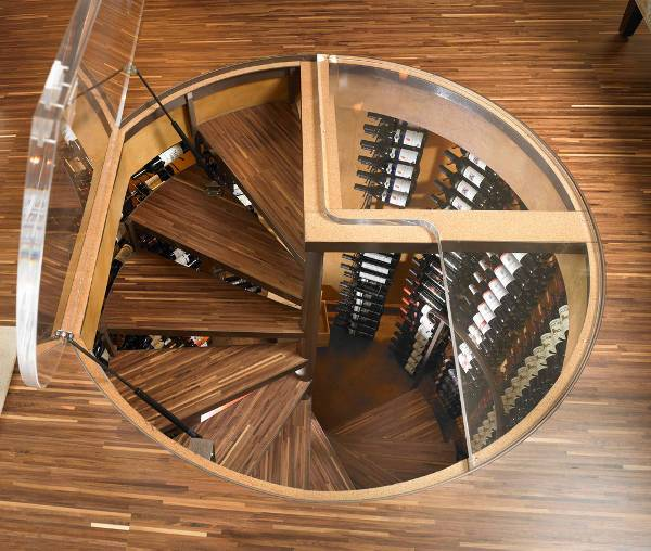 Custom Spiral Wine Cellar Idea