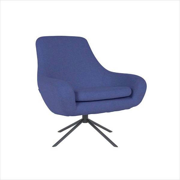 dark blue clifton swivel armchair