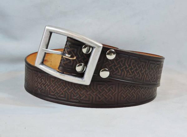 Dark Brown Casual Belt for Men